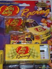 VTG Jim Inglebright #02 Jelly Belly Racing Collectible Metal Race Car and Tin