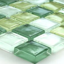 Kristall Glasmosaik Fliese Hellgelb Grün 25x25x8mm