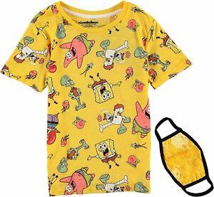 SpongeBob SquarePants Boys Short Sleeve T-Shirt with Mask