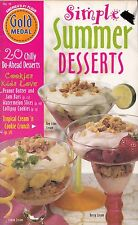 SIMPLE SUMMER DESSERTS VINTAGE GOLD MEDAL COOKBOOK 1998 #18 SUNFLOWER SPRITZ