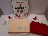 Vintage Fisher Price Medical Kit boxed 1977 No.936 Doctor Nurse Hospital Playset