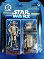 Star Wars Gold Commemorative Edition Skywalker Saga C-3PO BB-8 R2-D2. NIB