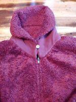 Patagonia Synchilla Warm Neck Fleece Full Zip Burgundy Women's Size Medium