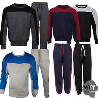 Boogy London Mens Plain Crew Neck jogging suit Full Tracksuit Bottoms Top Fleece
