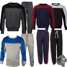 Boogy London Mens Plain Crew Neck jogging suit Full Tracksuit Bottoms Top Fleece
