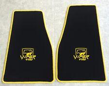 Autoteppich Fußmatten Chrysler Dodge Viper RT10 schwarz gelb 2teilig Velours Neu