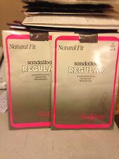 Vintage 2 pair Natural fit grey nude pantyhose sz A