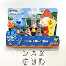 2000 Blues Clues Buddies BLUE, SALT & PEPPER, SHOVEL & PAIL Vintage Fisher Price