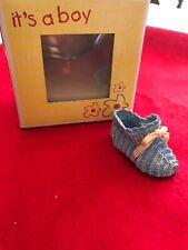 "Just The Right Shoe By Raine ""Its A Boy"" Raine Collection new baby gift, blue"