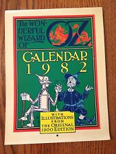 The Wonderful WIZARD of OZ 1982 CALENDAR - Determined Productions