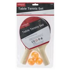 Table Tennis Bats And Balls Set - 2 Bats 3 Balls Ready To Play Any Table