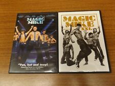 Magic Mike & Magic Mike XXL 1 & 2  (DVD, 2012) Channing Tatum - NICE!!