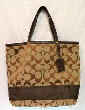 Coach #10126 Signature Tote/Weekender Bag - Brown