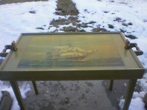 ANTIQUE FOLDING END TABLE FERGUSON FURNITURE 1930-1940