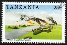 WWII Japanese Aircraft Attack RAF Blenheim Malaya Airfields Stamp/1992 Tanzania