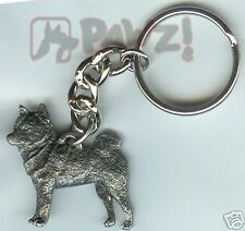 SHIBA INU Dog Fine Pewter Keychain Key Chain Ring NEW
