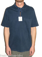 Quiksilver Mens Casual Princeton Blue Comfort Fit Polo Shirt Size Small