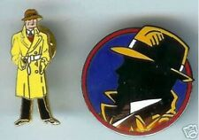 2 classic DICK TRACY cloisonne tacpins