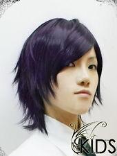 Hakuouki Portable Saito Hajime cosplay wig Dark Purple colour