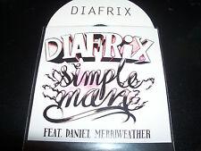 Diafrix Simple Man Ft Daniel Merriweather Aussie Hip Hop Promo CD