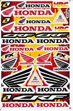 HONDA Vinyl Decal Sticker Black Red Motorcycle Racing Bike Gift Free Shipping