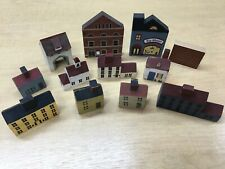 Cat's Meow Miniature Village Pieces and Other Collectable Miniatures 12 Total