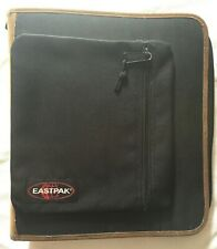 """Eastpak Avery Binder Pack 3.5"""" Black Tan Build Tougher 3 Rings Removable Canvas"""