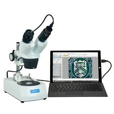 OMAX 20X-60X Binocular Stereo Student Microscope with Dual Lights and USB Camera