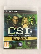 PS3 CSI: Fatal Conspiracy (2010), UK Pal, Brand New & Sony Factory Sealed