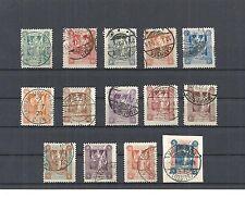 Marienwerder, 1920 Michelnummern: 1 - 14 o, gestempelt o, Katalogwert € 75,00