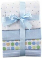 Luvable Friends Boy Flannel Receiving Blankets, 4-Pack, Blue