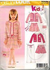6506 Vintage New Look Sewing Pattern Girls Jacket Skirt Pants Purse 3 - 8 OOP