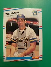 1988 Fleer Paul Molitor Card #169..Milwaukee Brewers