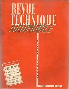 REVUE TECHNIQUE AUTOMOBILE 147 RTA 1958 ETUDE CITROEN 2CV 425cm3 (1è) AZ AZL AZU