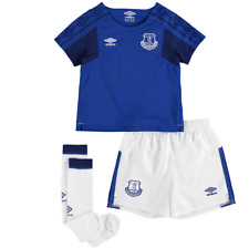 Everton Home Infant Kit 2017/18 Blue Age 4-5 Years Dh081 SS 09