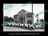 OLD LARGE HISTORIC PHOTO OF SACRAMENTO CALIFORNIA, THE GLENN DAIRY Co c1920