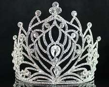 HOT CLEAR AUSTRIAN CRYSTAL RHINESTONE TIARA CROWN COMB BRIDAL PROM PAGEANT T1860