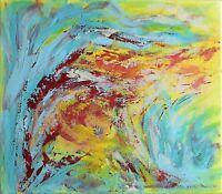 """Peinture sur toile Paysage Tableau abstrait signé HZEN - """"L'ARBRE AUX SONGES"""""""