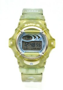 CASIO BABY-G BG-169 2516 WORLD TIME WOMEN'S GREEN AND BLUE TRANSLUCENT WATCH