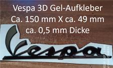 Vespa 3D Gel-Aufkleber Ca. 150 mm X ca. 49 mm ca. 0,5 mm Dicke in Schwarz