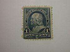 US Scott #247 Franklin Stamp, Hinged Blue Good Color