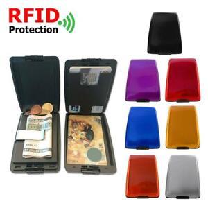Estuche para tarjetas bancarias Aluminum Alloy Credit Bank Card Box Case Portabl