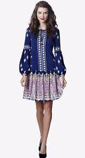 LEONA EDMISTON *Ruby* Glinda Dress in Kazbar Print Drop Waist sz XXS