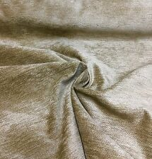BEAUTIFUL MINKY BROWN CHENILLE UPHOLSTERY FABRIC 3.2 METRES