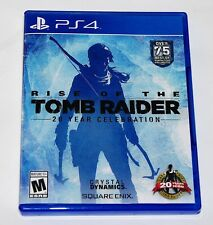 Replacement Case (NO GAME) Rise of the Tomb Raider 20 Year Playstation 4 PS4 Box