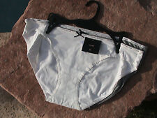 TOMMY HILFIGER set of 2 COTTON BIKINI PANTYS - XLARGE in IVORY and GRAY