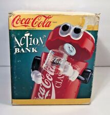 "Vintage 1992 COCA-COLA ""ACTION"" BANK Mechanical Coin Bank"