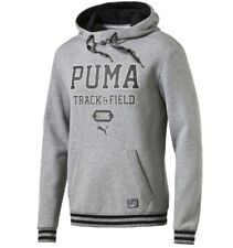 NEW  MENS PUMA STYLE ATH HOODY  SWEATSHIRT TOP COTTON GREY s small