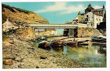 The Beck, Staithes, PPC Unposted by J Salmon, with Fishing Boats & Bridge