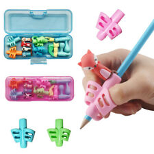 3 Pcs 2/3-finger Silicone Grip Pen Pencil Holder Help Kid Child Learn Write Tool
